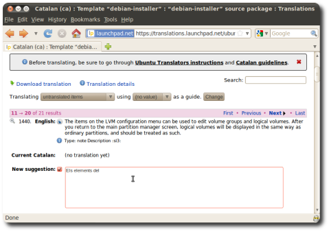 Translating Ubuntu