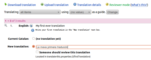 Translations Training